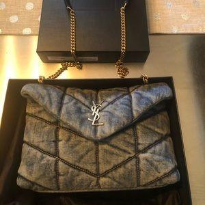 YSL Toy LouLou Puffer Denim Bag